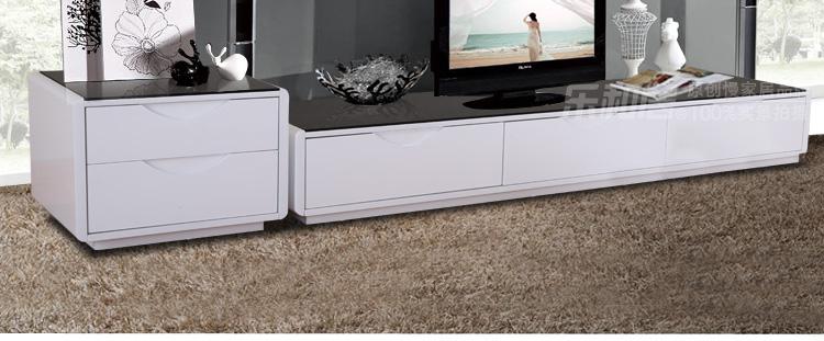 欧式钢化玻璃电视柜组合