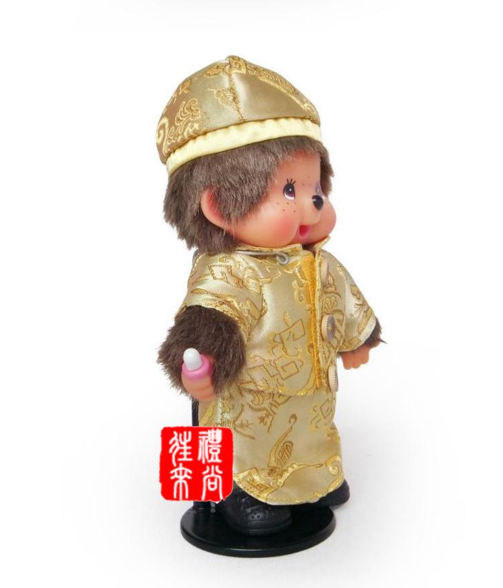 新款蒙奇奇 20cm中式婚纱礼服款 毛绒娃娃