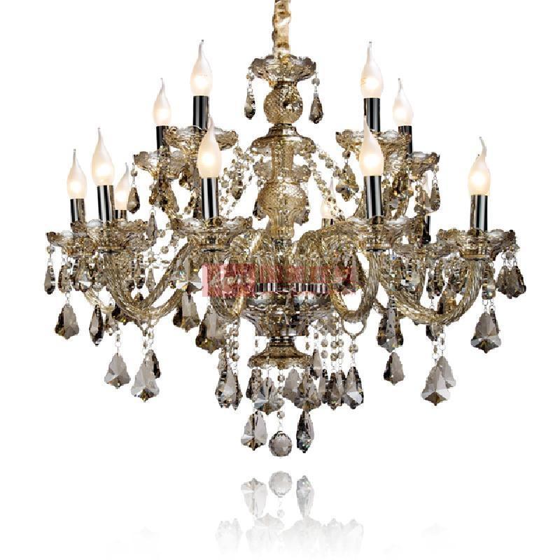 【奥朵】欧式吊灯奢华水晶灯客厅灯具餐厅灯饰卧室大厅灯10283