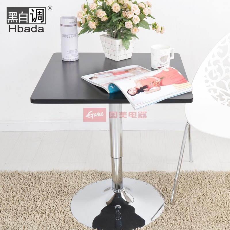 【黑白调】欧式咖啡桌子 升降方桌办公茶几时尚简约小