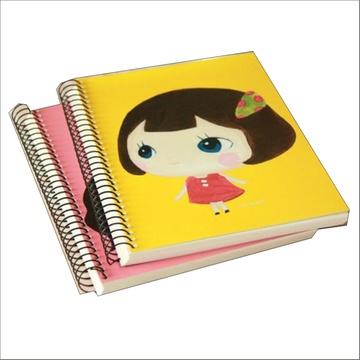 韩国文具正品 可爱女孩螺旋白纸本绘画涂鸦本
