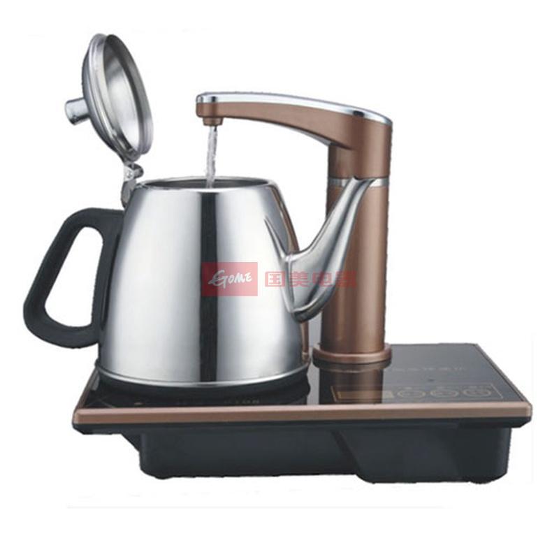金康仕c108电热水壶 自动上水电茶壶(棕色)