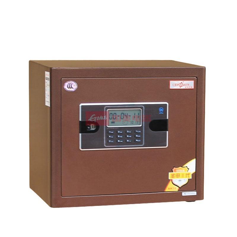 格林尼森fdx-a/d-33 全钢3c防盗认证电子密码保险箱(咖啡色)