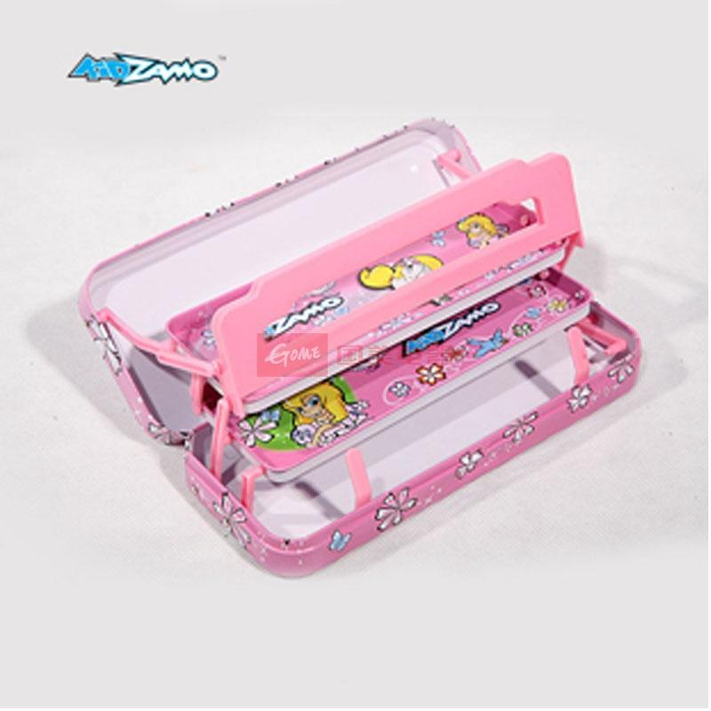 儿童文具盒三层铅笔盒学生文具卡通图案粉色女生款