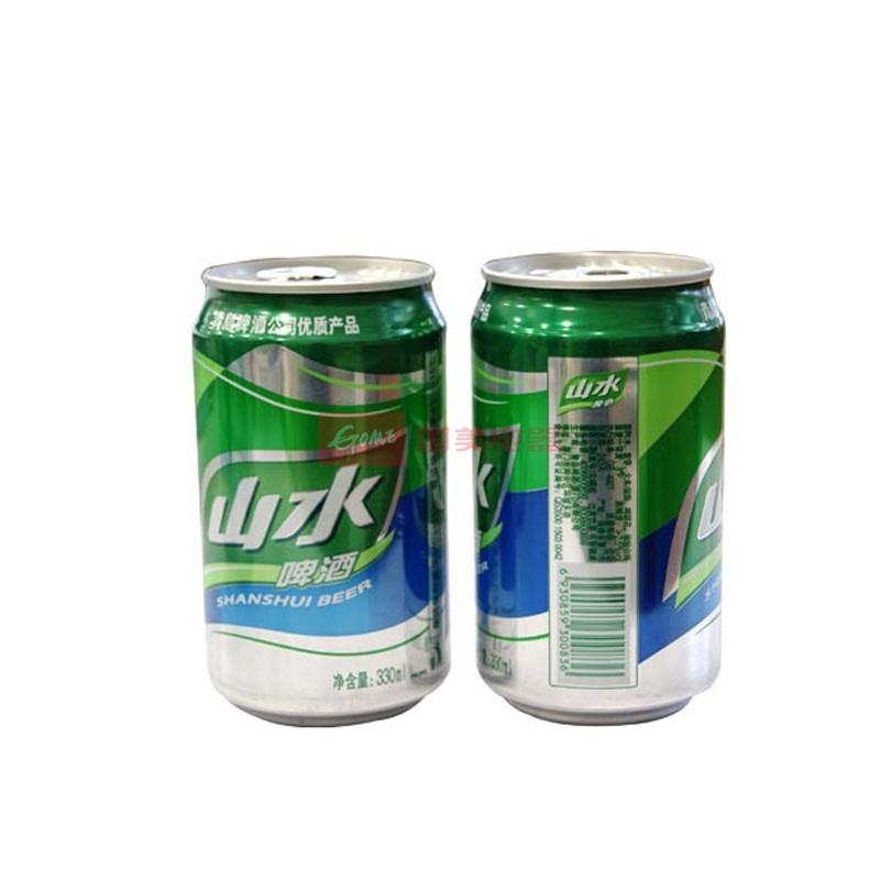 青岛山水啤酒10度330ml*24罐