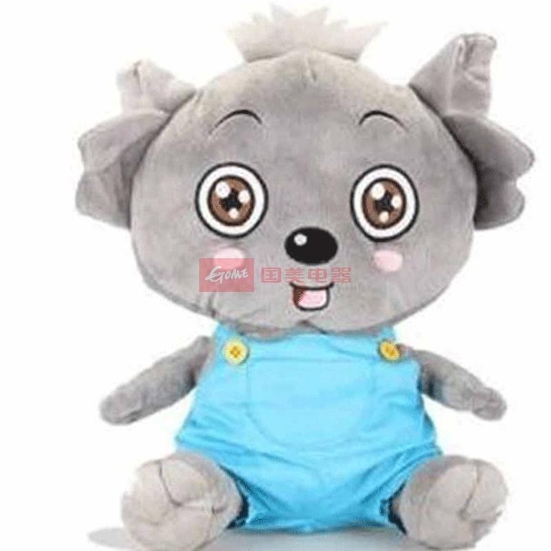 毛绒玩具 喜羊羊与灰太狼 小灰灰小红红毛绒公仔 40cm 单只装(小灰灰)