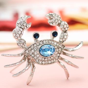 螃蟹胸针手绘图