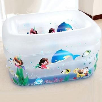 超大加厚印花婴幼儿充气游泳池四环加高宝宝洗澡池XJ9920图片