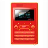 大显(DAXIAN)DX566手机迷你 超薄 卡片小手机 时尚可爱情侣?#20449;?#34013;色(红色)