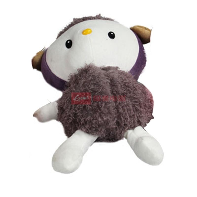 嘟嘟羊 羊咩咩毛绒玩具公仔 可爱小绵羊 抱枕靠垫礼物(棕色 20.0)
