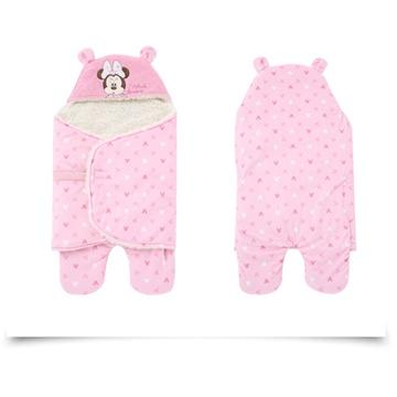迪士尼 disney彩虹糖海岛丝护脚分腿宝宝婴儿抱被734916粉色200