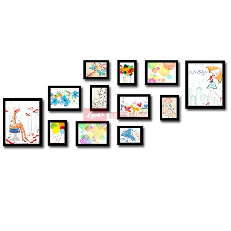 新品上架 12框照片墙 时尚创意相框墙 适合生活照相片