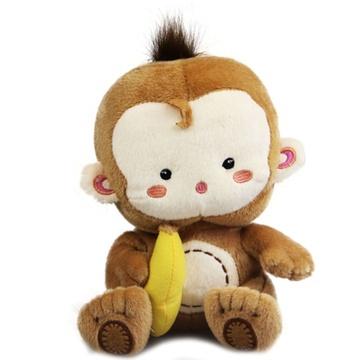 布艺浅棕色】可爱小猴子