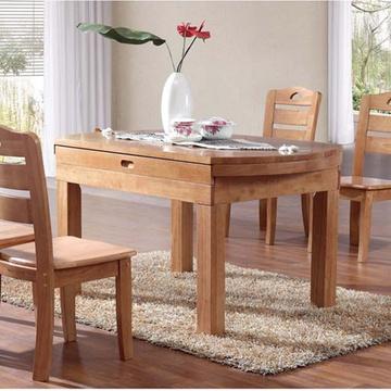 【进口纯橡木】家逸高端纯实木餐桌 长方形餐桌特价小型餐桌 欧式餐椅