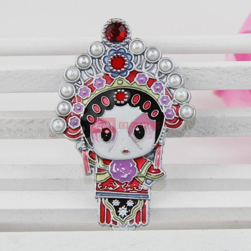 京剧脸谱磁性冰箱贴 家居装饰中国风商务外事出国创意小礼品(武旦冰箱