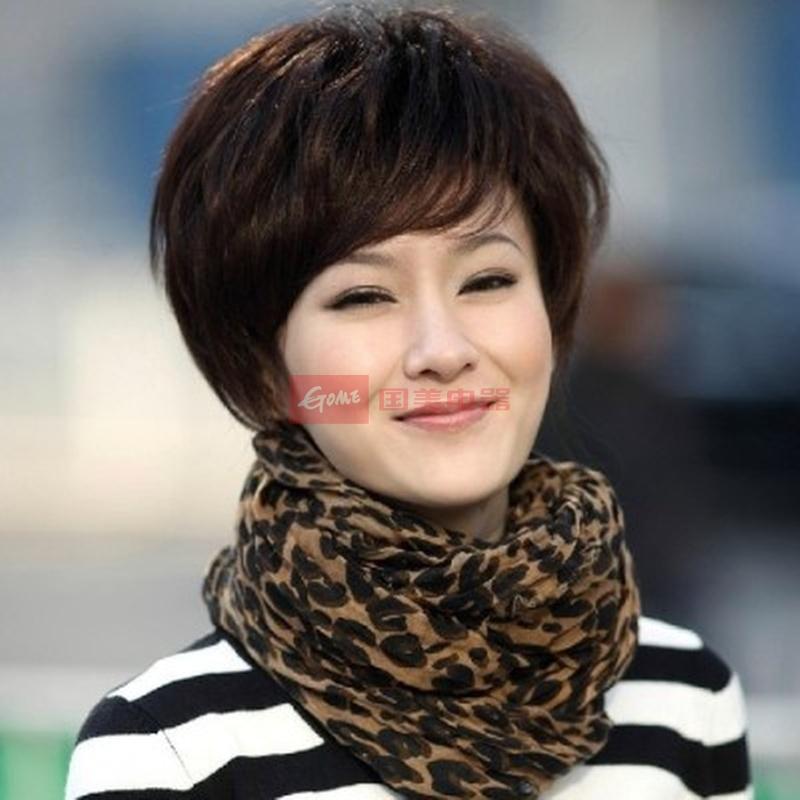 发型 短发/中年短发直发发型_中年妇女短发发型_中年女...