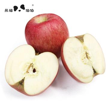 熊猫伯伯 陕西洛川苹果 精选红富士 箱装3kg 4a级苹果 12枚