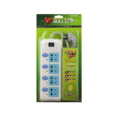 bull 公牛 一开一控电源插座接线板3米gn-311