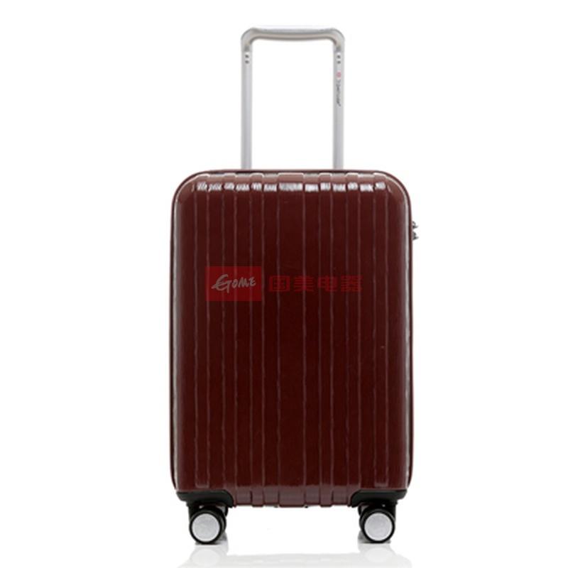 旅行之家 正品abs pc旅行箱 登机箱 20寸万向飞机轮拉杆箱子 男女(金