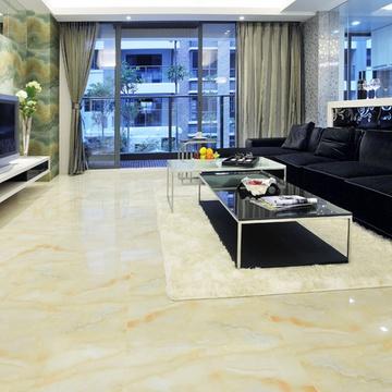 高恩 全抛釉 黄玉 仿大理石瓷砖客厅卧室地砖地板砖 800*800