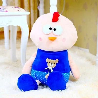 大号对眼鸡公仔 可爱创意毛绒玩具布娃娃小鸡玩偶布偶