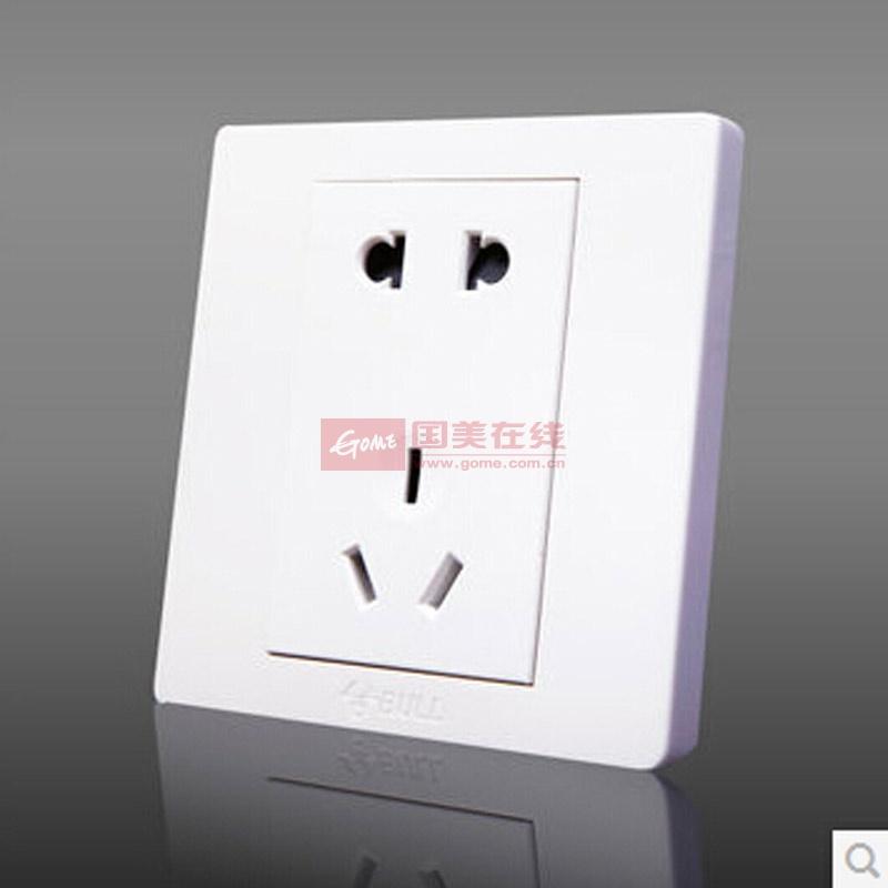 公牛插座开关墙壁面板正品五孔插座 二三眼10a电源插座g07z223