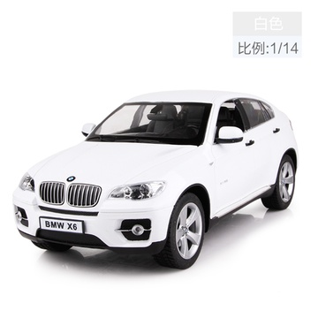 美致宝马x6经典手柄遥控车 充电儿童玩具车遥控汽车赛车男孩玩具(白色