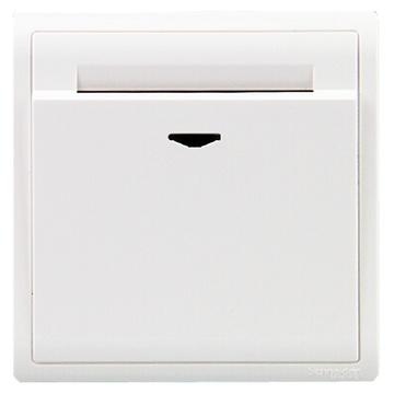 施耐德开关插座 丰尚系列 16a 插卡取电节能开关 带延时功能 e8231ekt