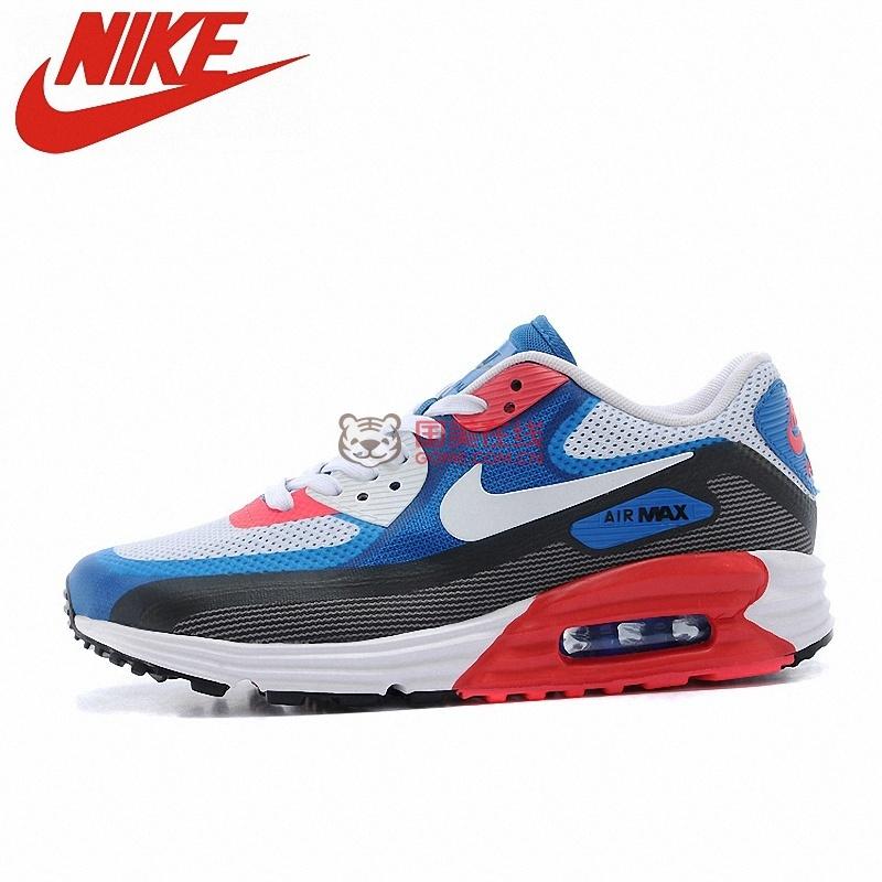 nike耐克男鞋air max90半掌气垫跑步鞋运动鞋631744(白蓝红 40)