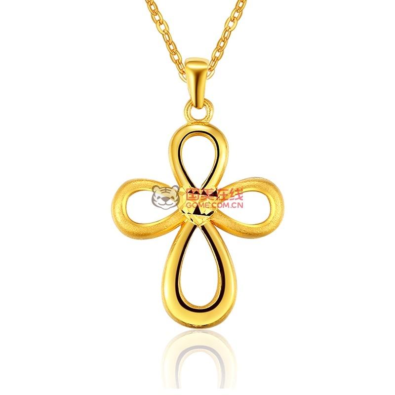 荟萃珠宝 足金项链 同心结-项链图片展示-国美在线