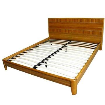 派森家具 现代简约 实木框架床 橡胶木床 双人床1.5米
