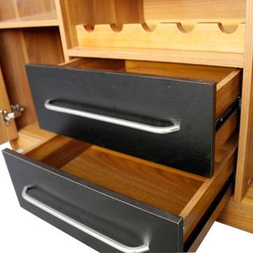 派森家具 簡約現代 實木包邊客廳儲物柜 廚房碗柜茶水
