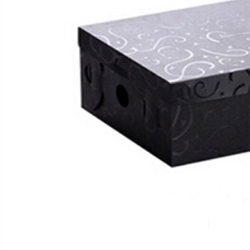 星空夏日 雕花加厚翻盖女鞋盒 黑色 x9106