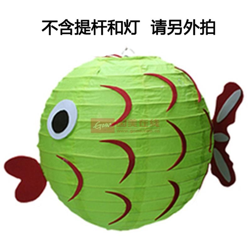 大贸商 卡通动物儿童手工灯笼 diy制作材料包手提万圣