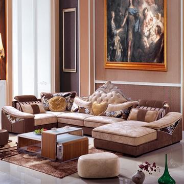 欧式新古典沙发大户型布艺图片