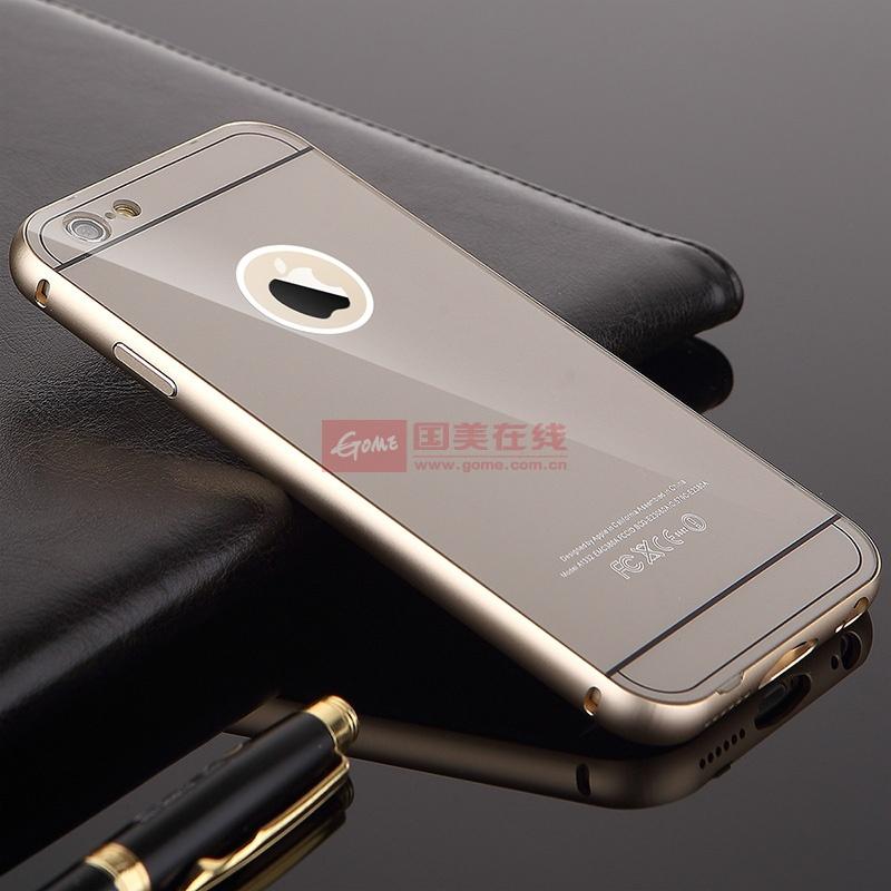 真皮世家 iphone6 plus手机壳iphone6金属边框后盖 苹果6保护套5.