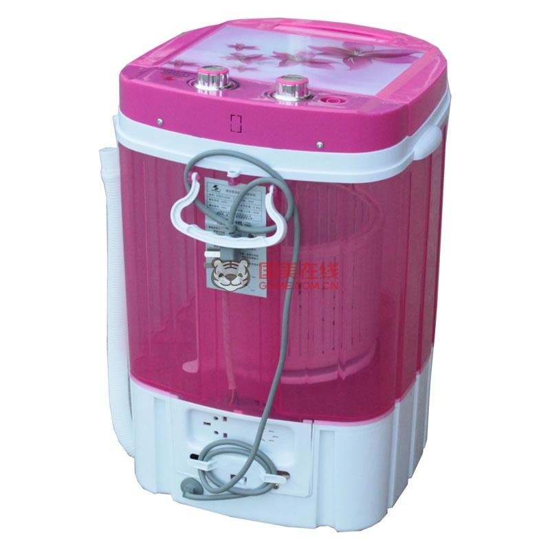 申花3.8公斤迷你洗脱两用单桶波轮洗衣机