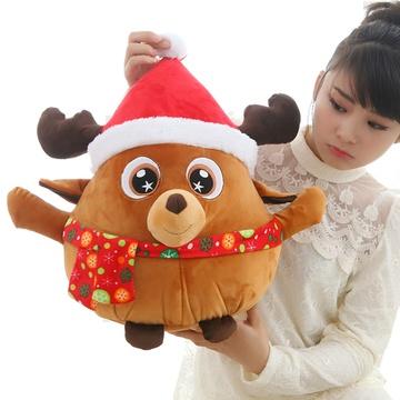 卡通可爱圣诞老人公仔玩具布娃娃卡通麋鹿企鹅毛绒