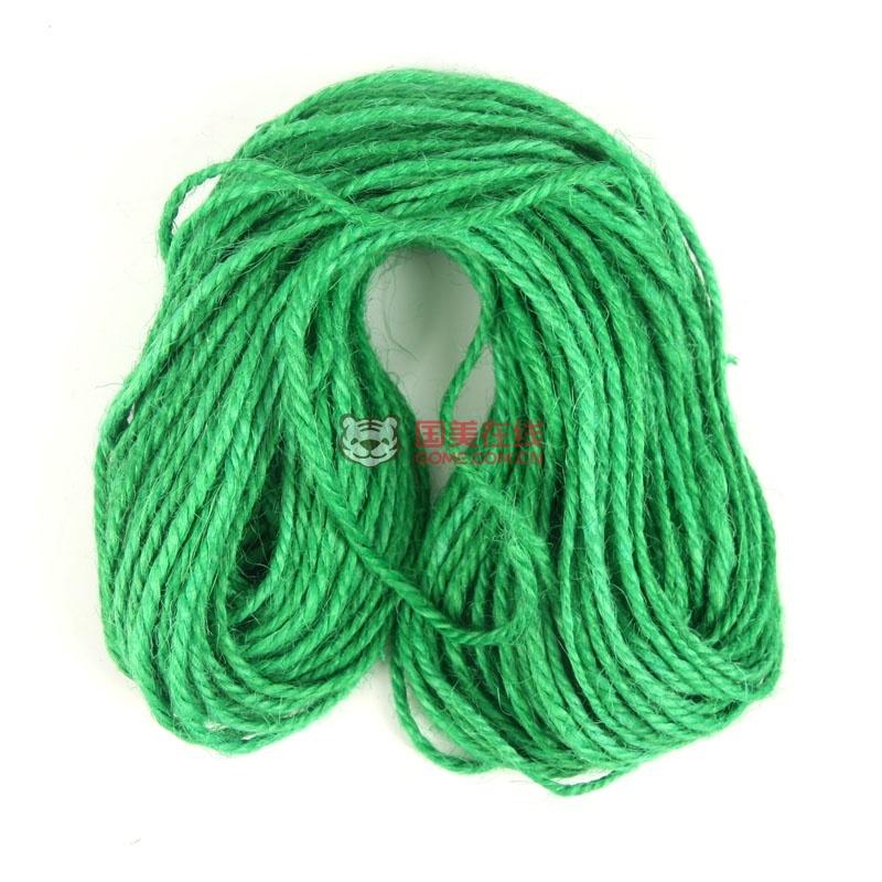 大贸商 22米原色细腊麻绳 吊饰麻蜡绳 幼儿园手工diy材料 ef01360