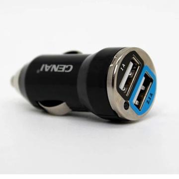 歌奈 汽车车载点烟器充电器汽车手机usb车充ipad苹果平板适用
