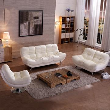 百家汇 真皮沙发 头层牛皮 客厅沙发 皮沙发(咖啡色 单人位 双人位)