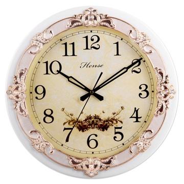 hense/汉时 挂钟欧式田园艺术静音时尚创意客厅石英挂钟hw19 16寸b款