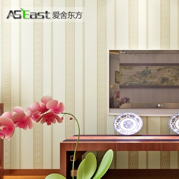 爱舍东方 新中式古典窗花图案壁纸 茶几书房客厅背景墙墙纸(as-501图片