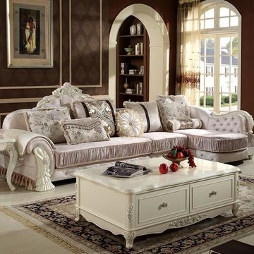 欧式沙发(图片色 1+2+贵妃)