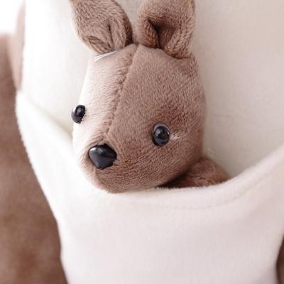 可爱袋鼠娃娃公仔玩偶 毛绒玩具灰色母子老鼠大号创意
