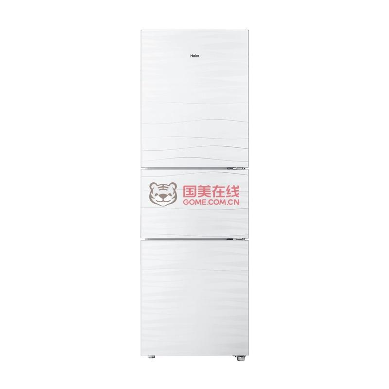 海尔(haier)bcd-216stgm 216升保湿保鲜软冷冻三开门冰箱(白色微波
