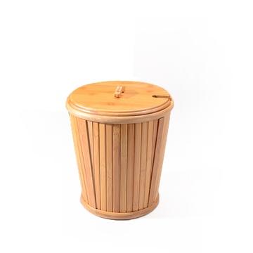 甲馨 竹制茶桶 茶叶垃圾桶 茶水桶茶渣桶 茶桶