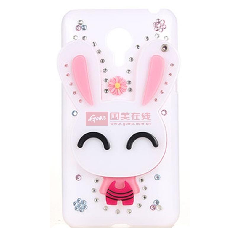 【真皮世家手机保护套粉眯兔图片】 可爱卡通水钻镜子