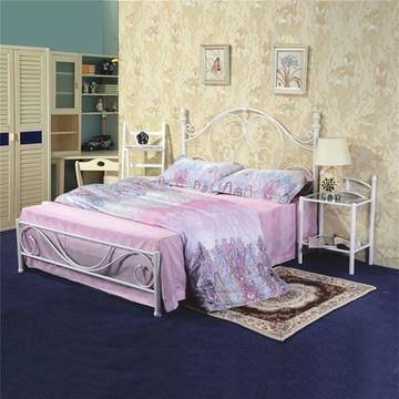 卧室家具宜家欧式铁艺床美式