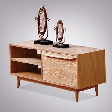 爱尚妮私 全实木电视柜北欧风情客厅家具原木视听柜白蜡木bo011